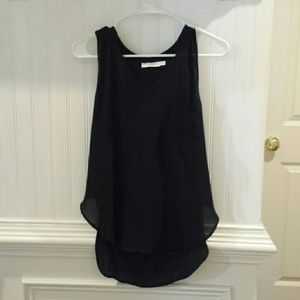 Lush Women's Size Medium Black Tank Top